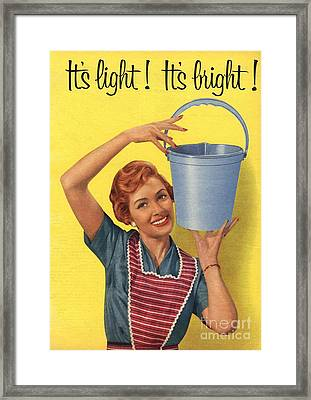 1950s Uk Housewife Housewives Buckets Framed Print by The Advertising Archives