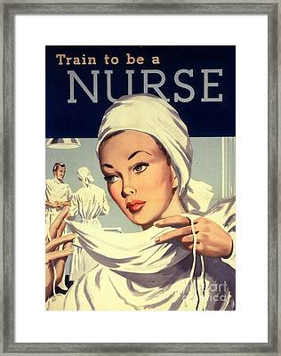 1950s Uk Nurses Hospitals Medical Framed Print