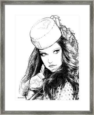# 2 Adriana Lima Portrait Framed Print