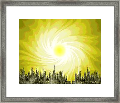 204 Poster Climate Change 1 ... Early Spring - Sun  Framed Print