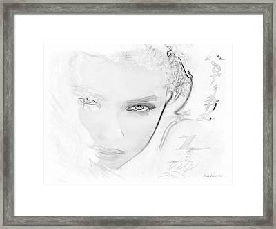 # 25 Adriana Lima Portrait Framed Print