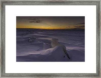 -25 Freezing Sunset Framed Print