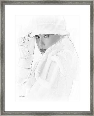 # 3 Adriana Lima Portrait. Framed Print