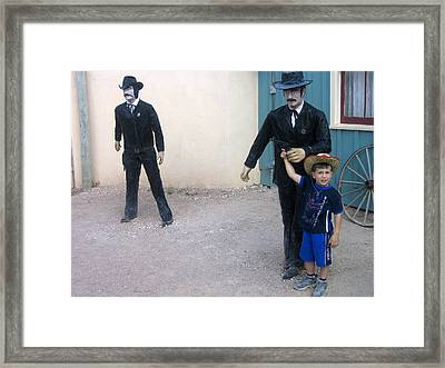 3 Godfathers Homage 1948 Ok Corral Tombstone Arizona  Framed Print by David Lee Guss