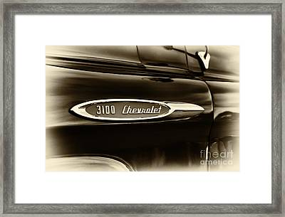 3100 Chevrolet Truck Sepia Framed Print by Tim Gainey