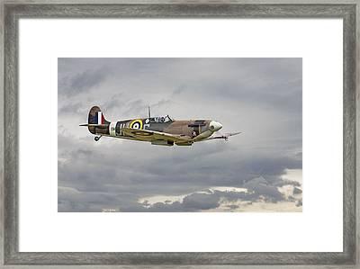 317 Sqdn Spitfire Framed Print by Pat Speirs