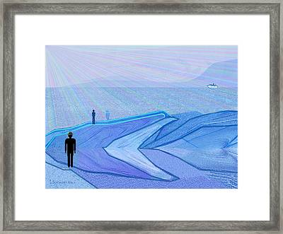 333 - The Cold  Framed Print by Irmgard Schoendorf Welch