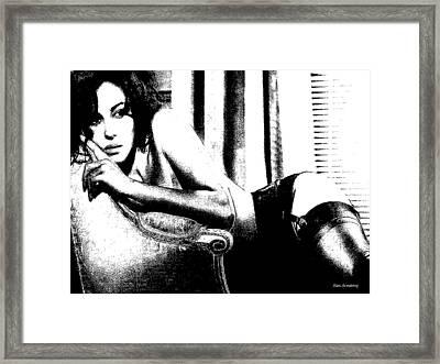 # 4 Monica Bellucci Portrait Framed Print
