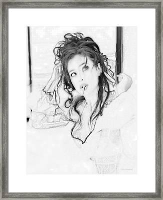 # 5 Monica Bellucci Portrait Framed Print