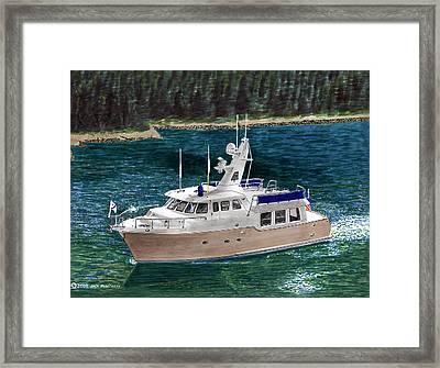 50 Nordhavn Trawler Yacht Framed Print by Jack Pumphrey