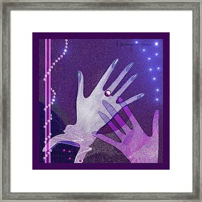 539 - Hands Framed Print by Irmgard Schoendorf Welch