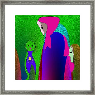648 - Little Monster Heart ...  Framed Print by Irmgard Schoendorf Welch