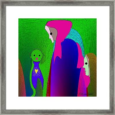 648 - Little Monster Heart ...  Framed Print by Irmgard Schoendorf Welch