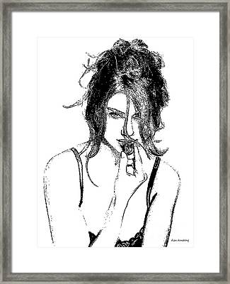# 65 Adriana Lima Figurative Framed Print