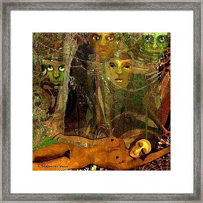 738 - Some Are Forever Sleeping In The Woods Framed Print by Irmgard Schoendorf Welch