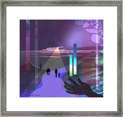 798 -   Surreal  Walk  Into Magic Framed Print by Irmgard Schoendorf Welch