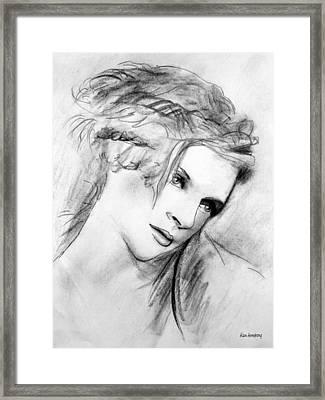 # 8 Uma Thurman Framed Print by Alan Armstrong