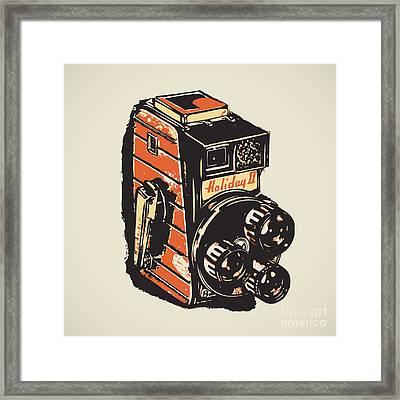 8mm Vintage Camera Framed Print