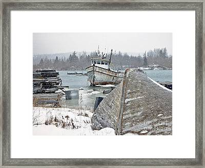 A Bit Of Maine History Framed Print by Christopher Mace