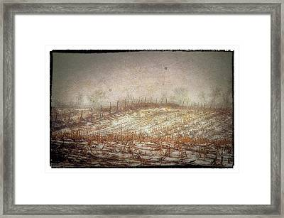 A Cold Field Framed Print