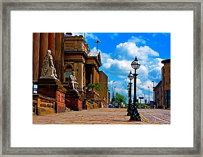 A Digitally Converted Painting Of William Bbrown St Liverpool Framed Print by Ken Biggs