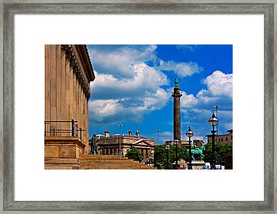 A Digitally Converted Painting St Georges Hall Liverpool Framed Print