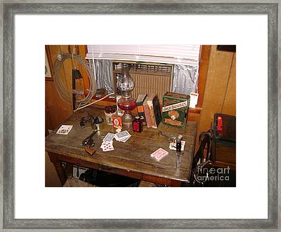 A Gangsters Card Game Framed Print by R A W M