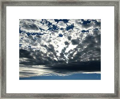 A Glorious Cloudscape Framed Print