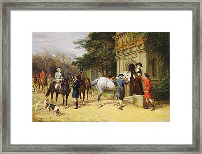 A Helping Hand Framed Print by Heywood Hardy