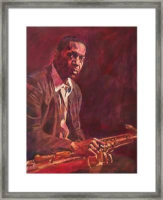 A Love Supreme - Coltrane Framed Print by David Lloyd Glover