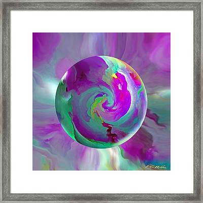 Framed Print featuring the painting   Perpetual Morning Glory by Robin Moline