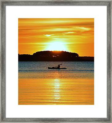 A Reason To Kayak - Summer Sunset Framed Print