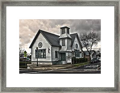 A Spooky Looking Church In Chino Framed Print by Gregory Dyer