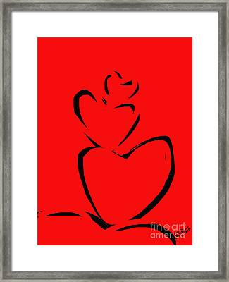 A Stack Of Hearts Framed Print by Go Van Kampen