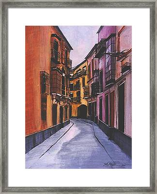 A Street In Seville Spain Framed Print