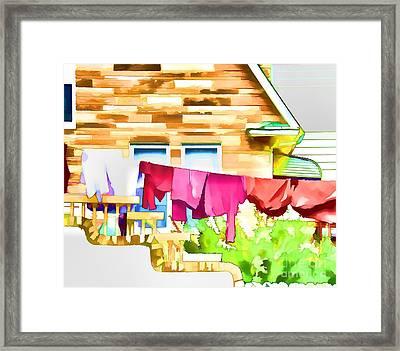 A Summer's Day - Digital Art Framed Print