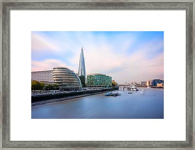 A Thames View - London Framed Print