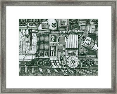 A Traveling Cabinets Of Curiosities Framed Print by Richie Montgomery