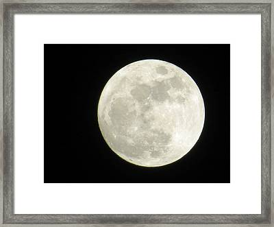 A Winter'sfullmoon Over Ga Framed Print