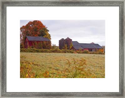 Abandoned Connecticut Farm  Framed Print by John Vose