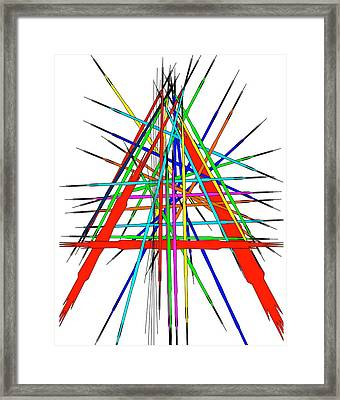 Framed Print featuring the digital art  Abstract A by Gayle Price Thomas