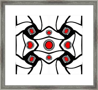 Abstract Geometric Black White Red Art No. 380. Framed Print by Drinka Mercep