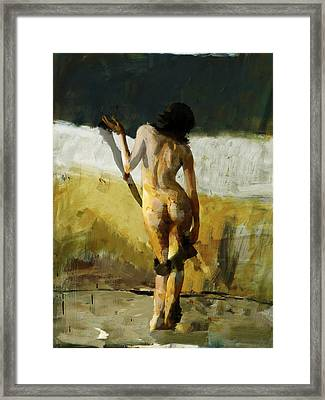 Abstract Nude 7 Framed Print