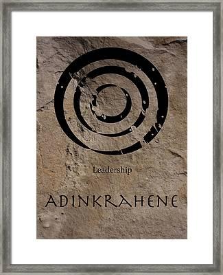 Adinkra Adinkrahene Framed Print