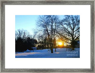 After Snow Framed Print