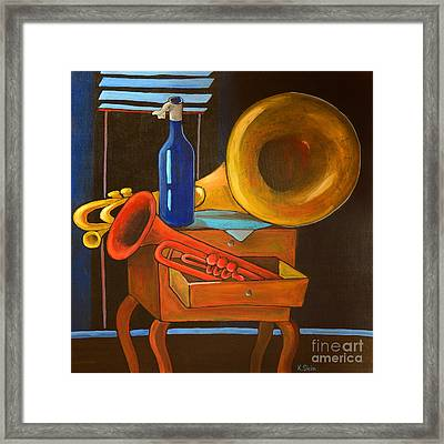 After The Concert Framed Print by Karin Stein