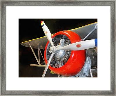 Airplane - F3f-2 Biplane Framed Print by Susan Savad