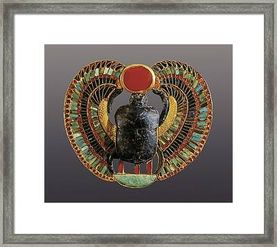 � Aisaeverett Collection Scarab Framed Print by Everett