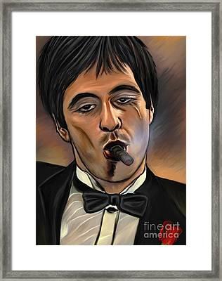 Al Pacino-godfather Framed Print by Andrzej Szczerski