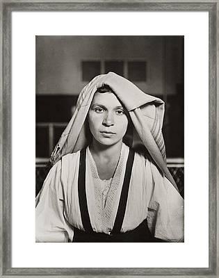 Albanian Woman Ellis Island Framed Print